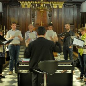 Small group rehearsal at University College chapel